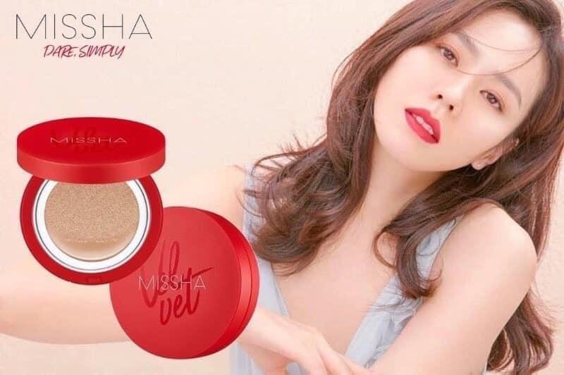 韓國 - 正版 Missha 紅絲絨遮瑕氣墊粉餅