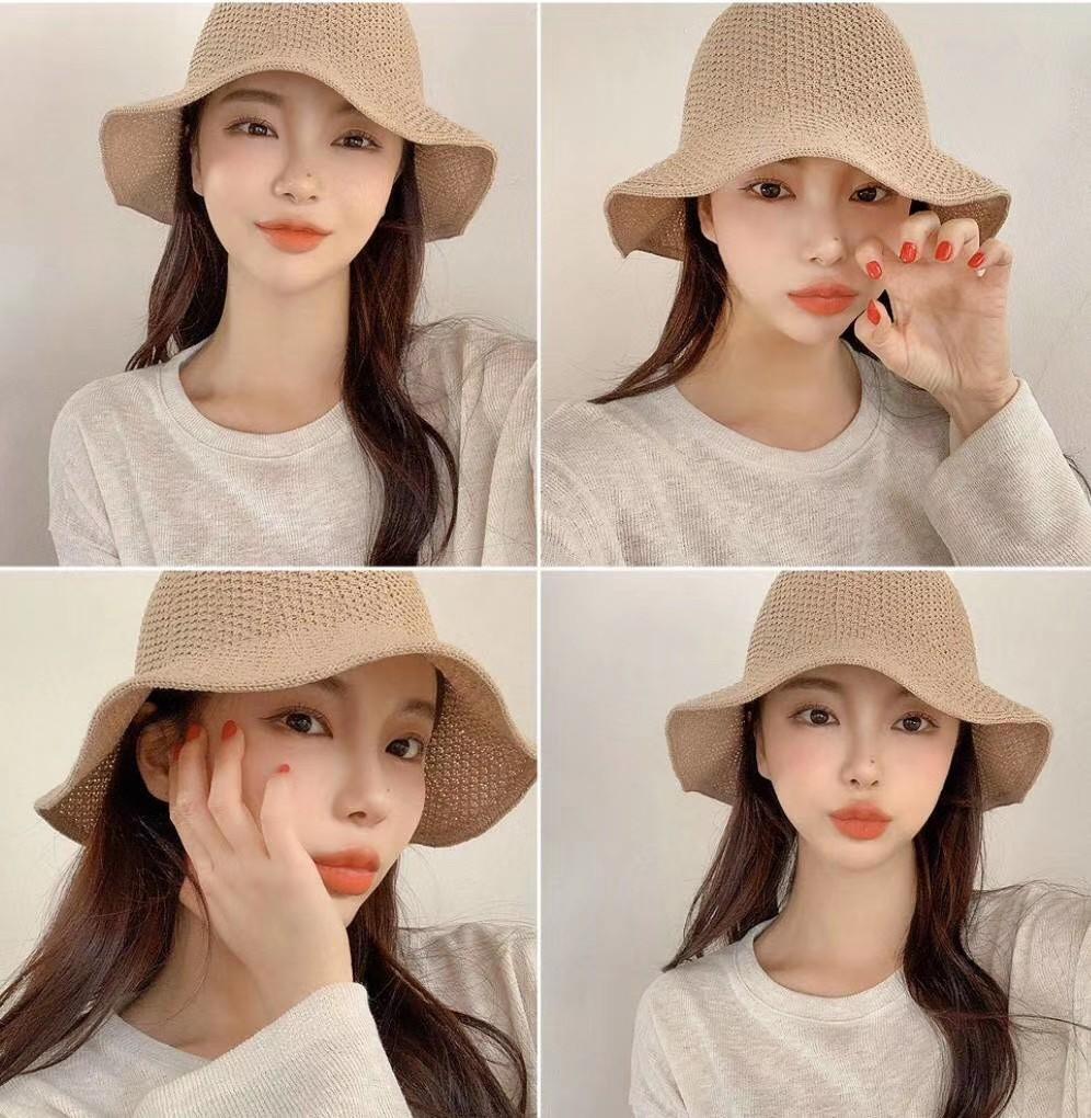 韓國 - 春夏款針織漁夫帽