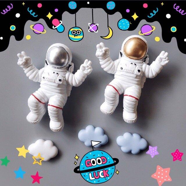 抒壓小物~立體造型磁鐵 太空人套組