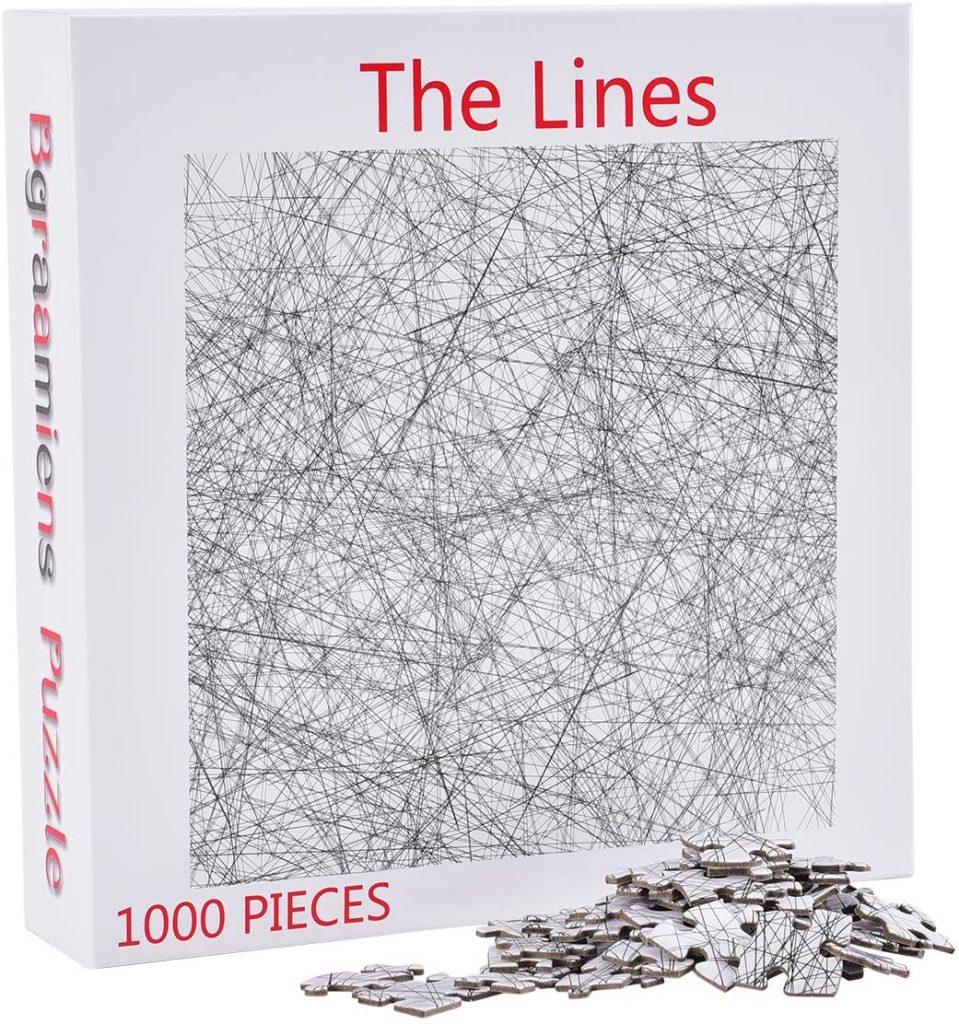 Bgraamiens | 大人版拼圖遊戲 – 黑白簡約線條拼圖 The Lines (Everyday Object推薦款)