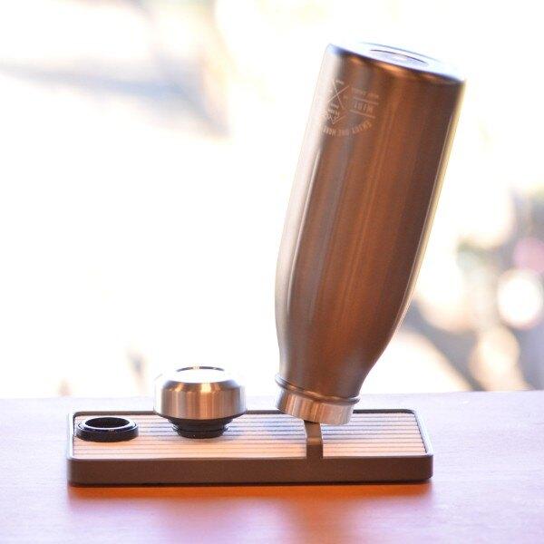 CB Japan|Flow 廚房系列 杯瓶瀝水架《時尚灰》(附珪藻土底座/收納架/工業風)