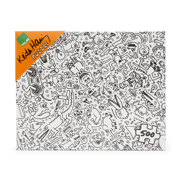 VILAC | Keith Haring 黑白塗鴨拼圖500片 (MoMA/塗鴨/黑白/Keith Haring Jigsaw Puzzle)