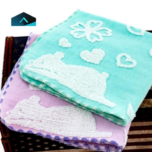 作夢熊美棉紗布方巾