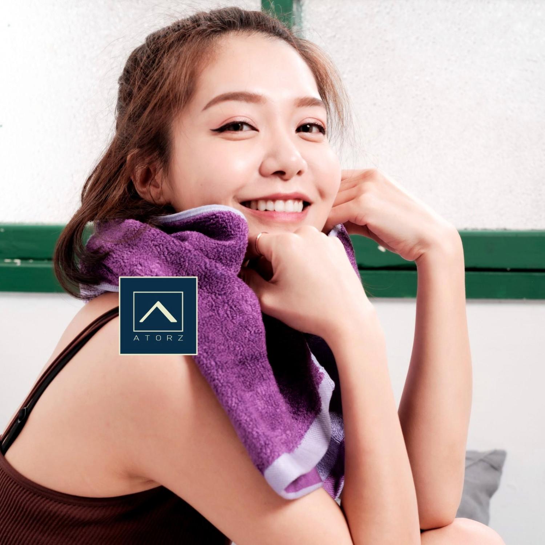 天絲棉毛巾 ‧ 靛紫 / 湛藍