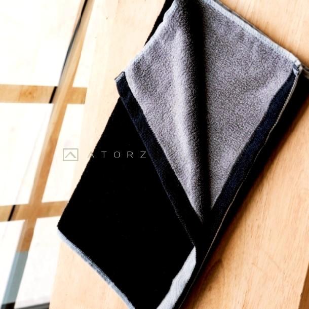卓越新質感 | 天絲棉毛巾‧冷冽黑