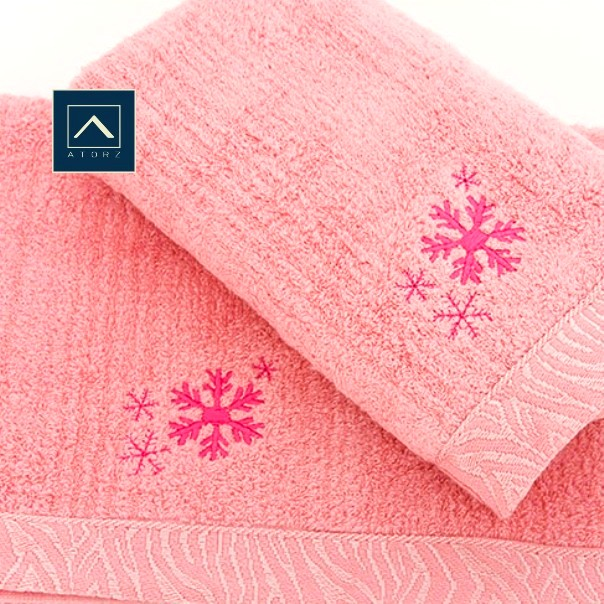雪花柔嫩毛巾 2入