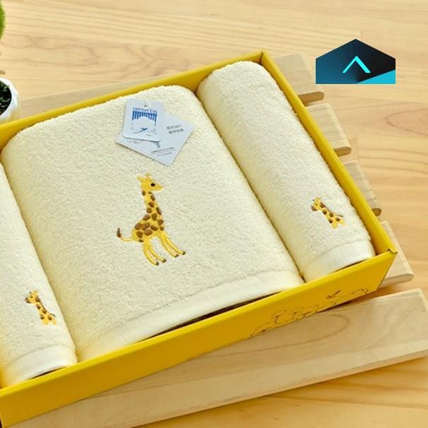 美國棉長頸鹿毛浴巾禮盒