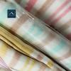 多彩條紋紗布浴巾