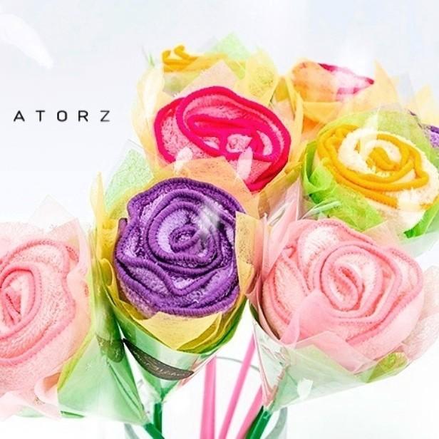 玫瑰花束毛巾