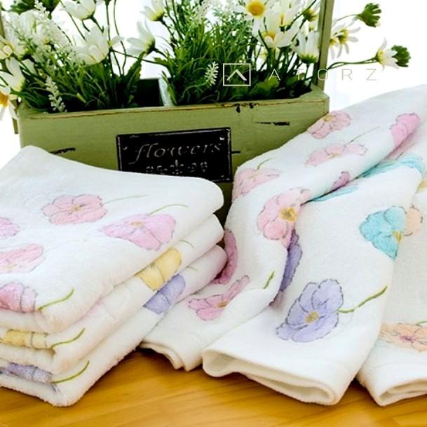 菫花美棉毛巾 / 2入混色