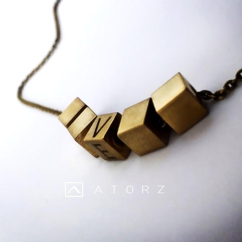 貴金屬精品系列 | VENV 銅塊項鍊‧轉動