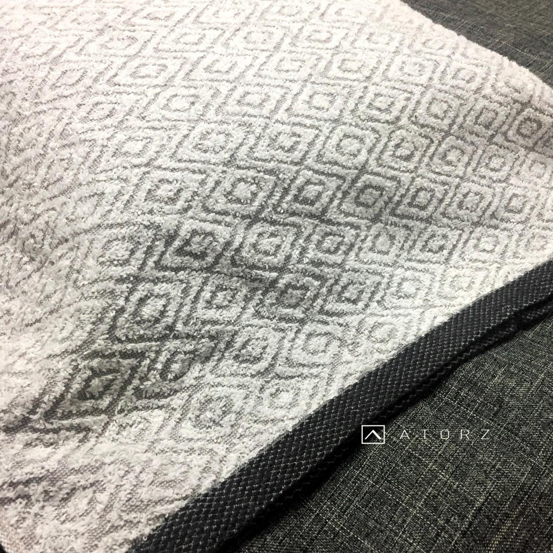 英倫風奈米銀竹炭枕巾
