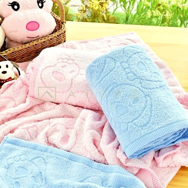美國棉提花兒童小浴巾