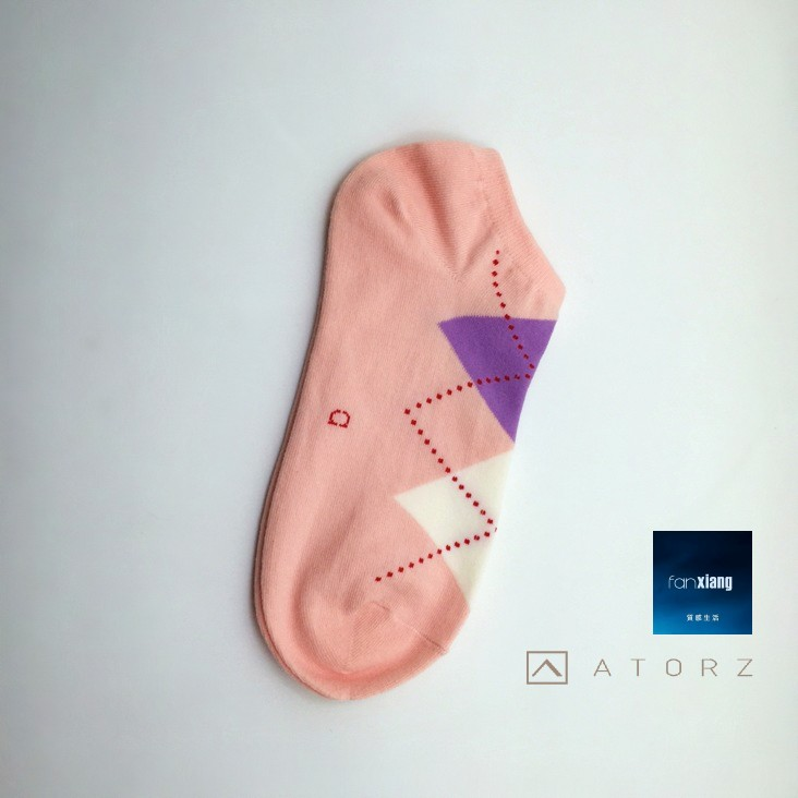 女精梳萊卡裸襪‧粉底菱格