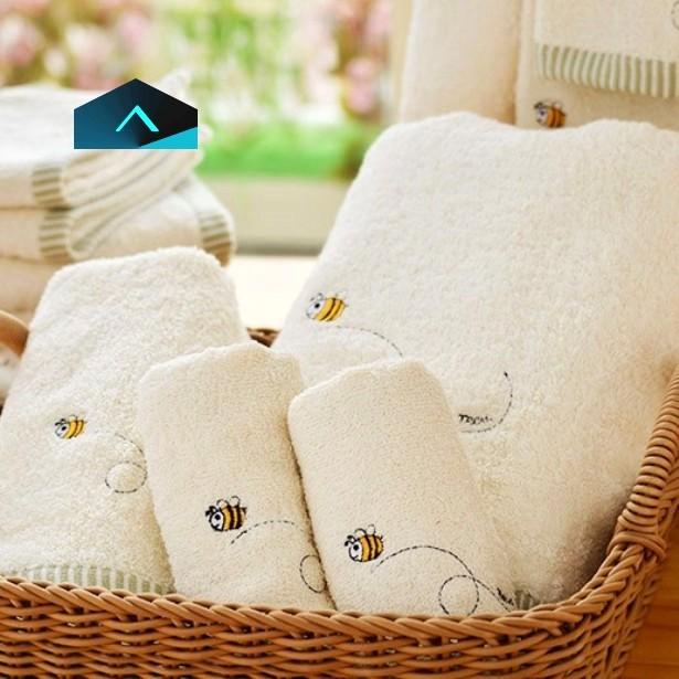 有機棉繡蜂毛巾禮盒