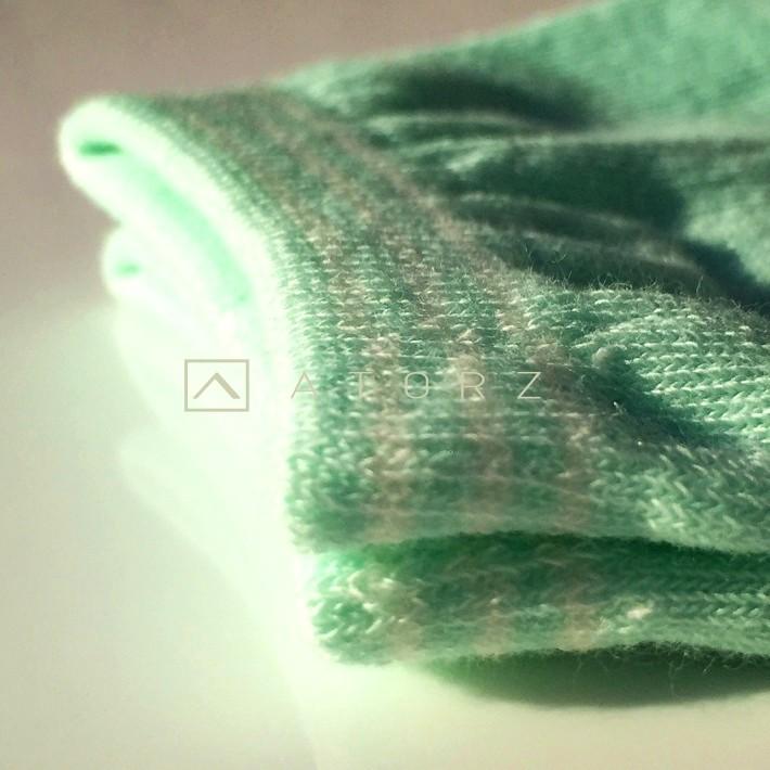 女精梳萊卡裸襪‧紫白圓點