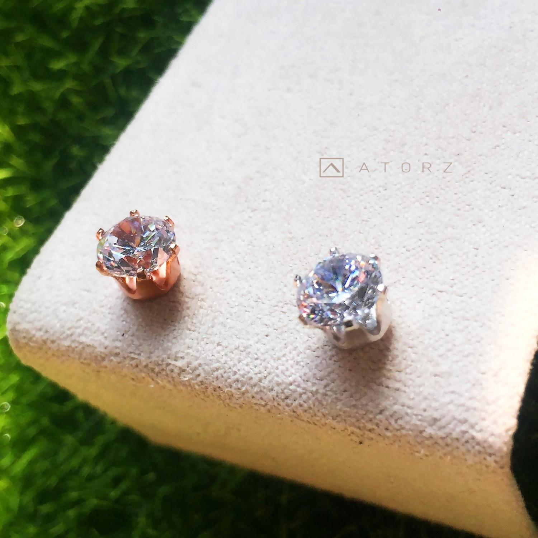 貴金屬精品系列 | VENV 純銀鋯石耳環‧愛戀