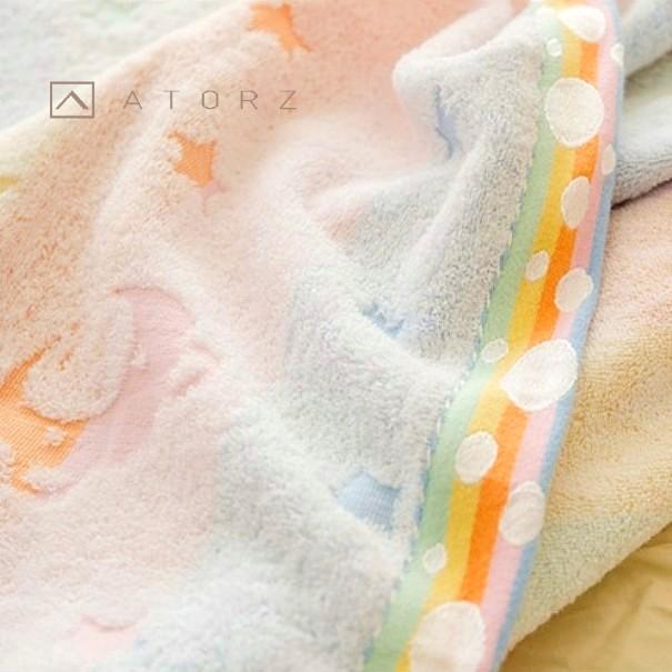 彩虹熊美棉雙人毛巾被