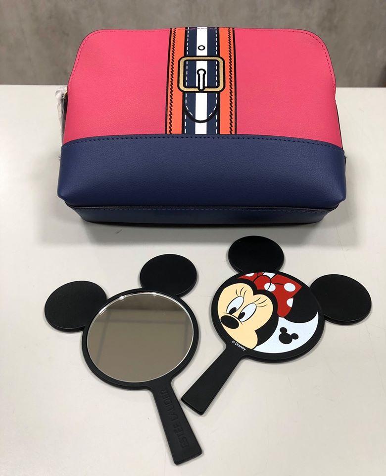 [指標愛購物] 雅詩蘭黛 x 米妮 時尚撞色旅行化妝包+手持造型鏡