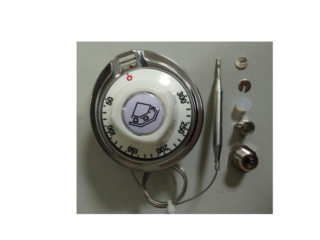 EGO德國製造 3PIN腳 50~300度 液漲式溫度開關白色旋鈕帶螺牙