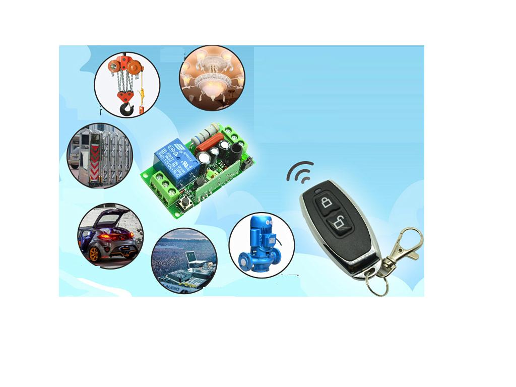 DC12V或24V 單路無線遙控繼電器開關模組