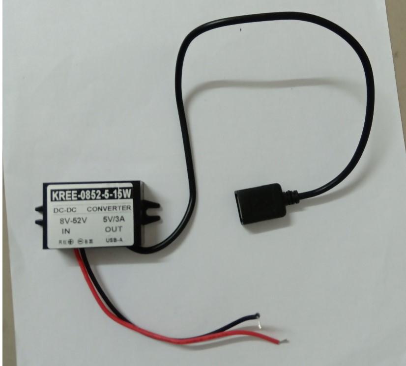 直流 降壓模組輸入8-52V 輸出5V USB接頭