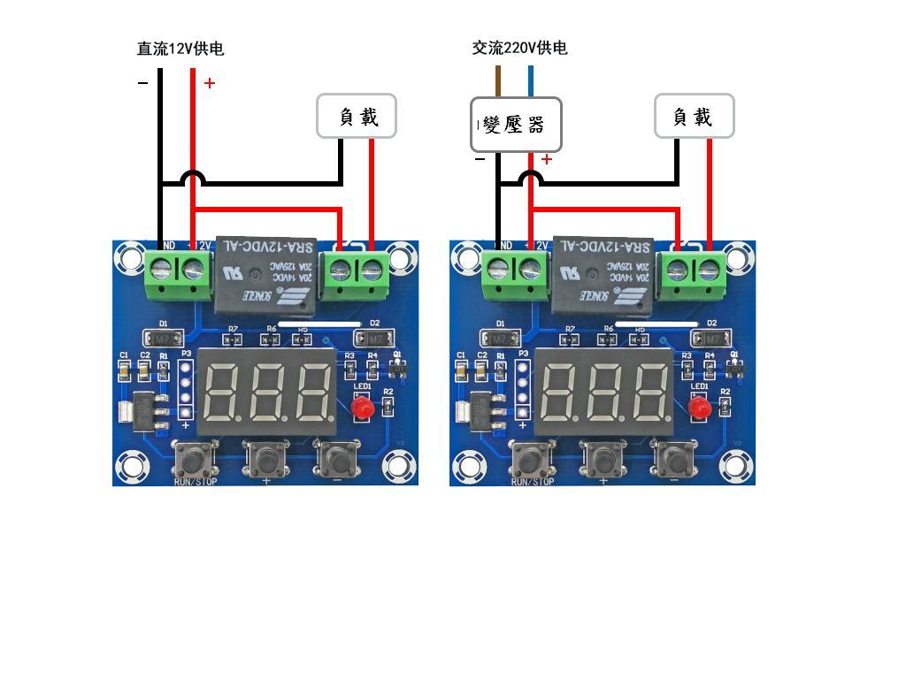 定時器控制模組(1~999分鐘,時間到數)