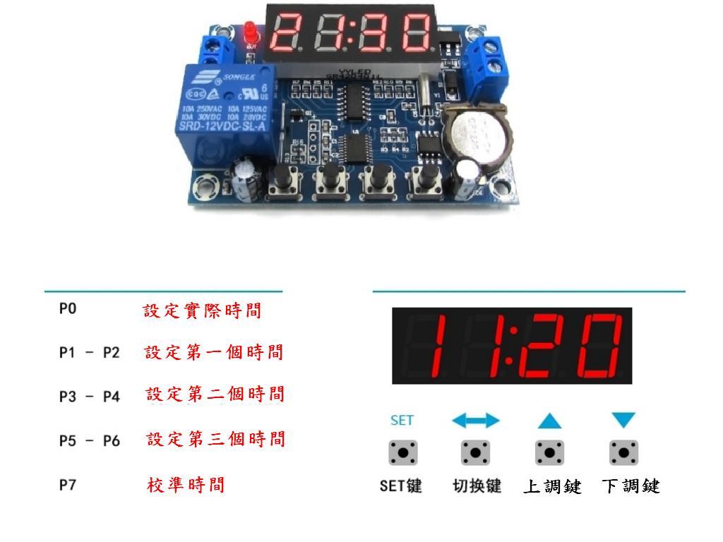 時間控制模組 24H定時 三組定時記憶