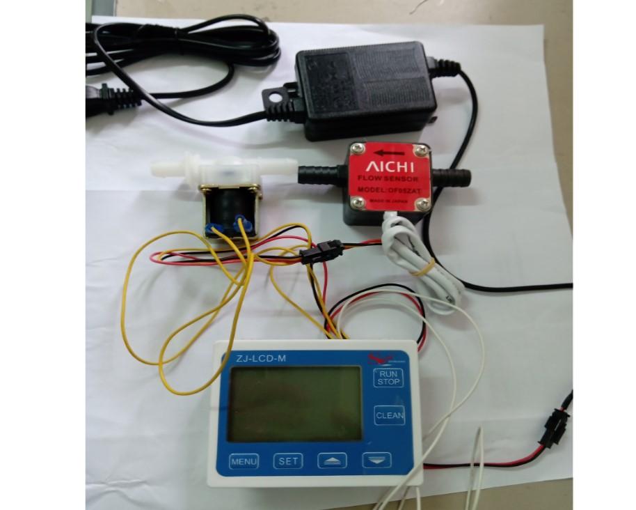 油專用流量計+顯示器表頭+電磁閥+AC110V轉DC24V變壓器