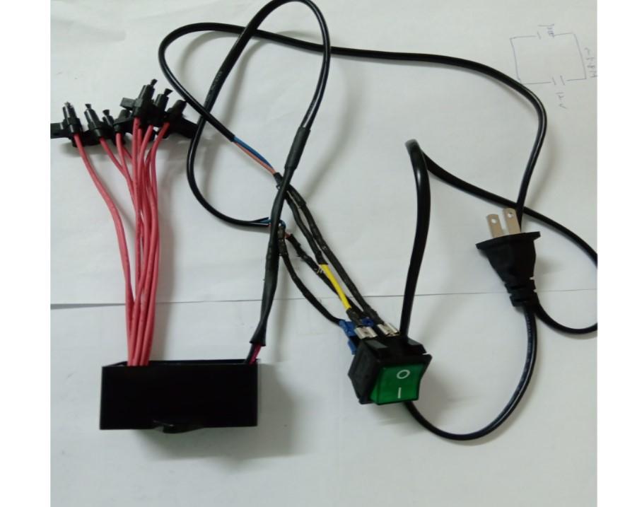 AC110V負離子產生器模組+開關(含配線)
