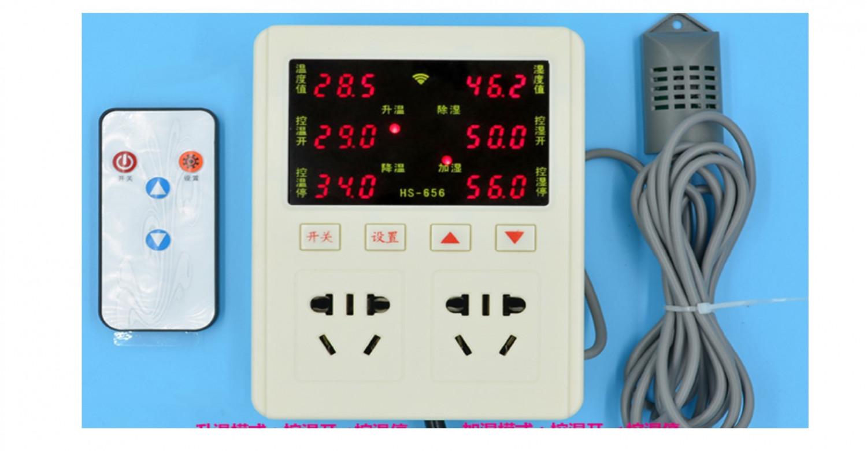AC85~220V 插座型溫溼度控制器