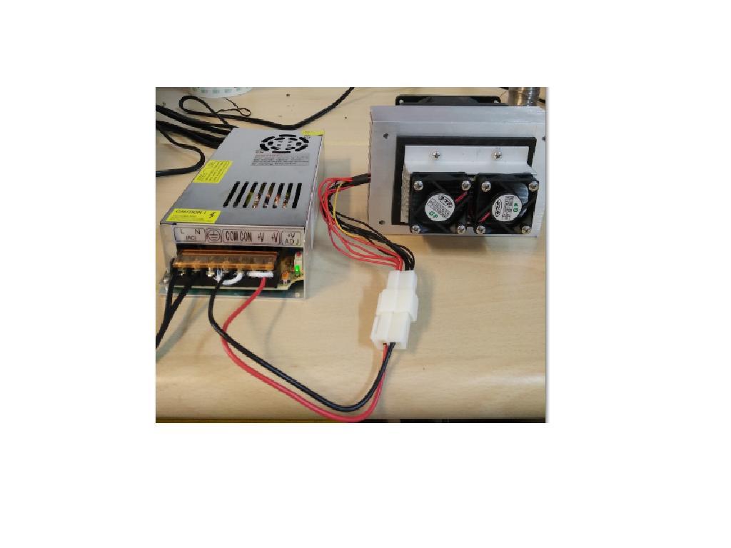 寵物用DC12V/ 100W遙控型溫度控制製冷器模組(制冷器+電源供應器+遙控型溫控器) 含配線