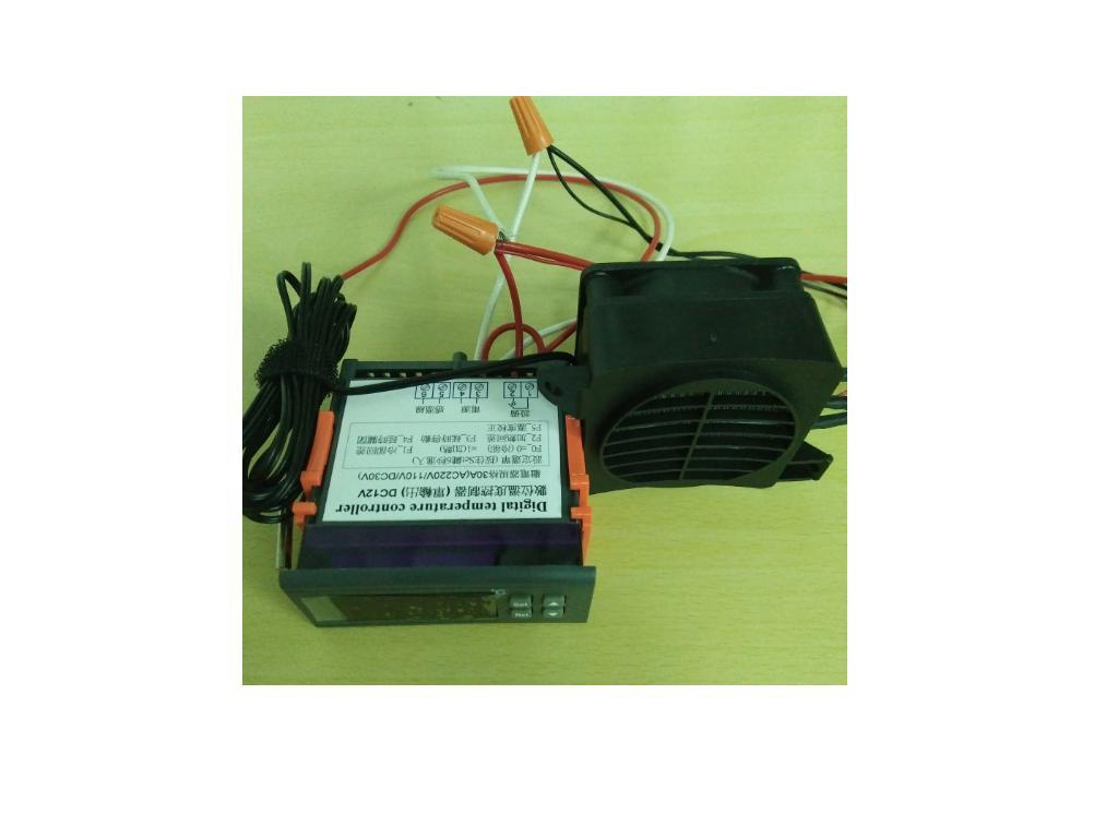 AC110V溫度控制熱風機(含配線,接AC110V就可以使用)
