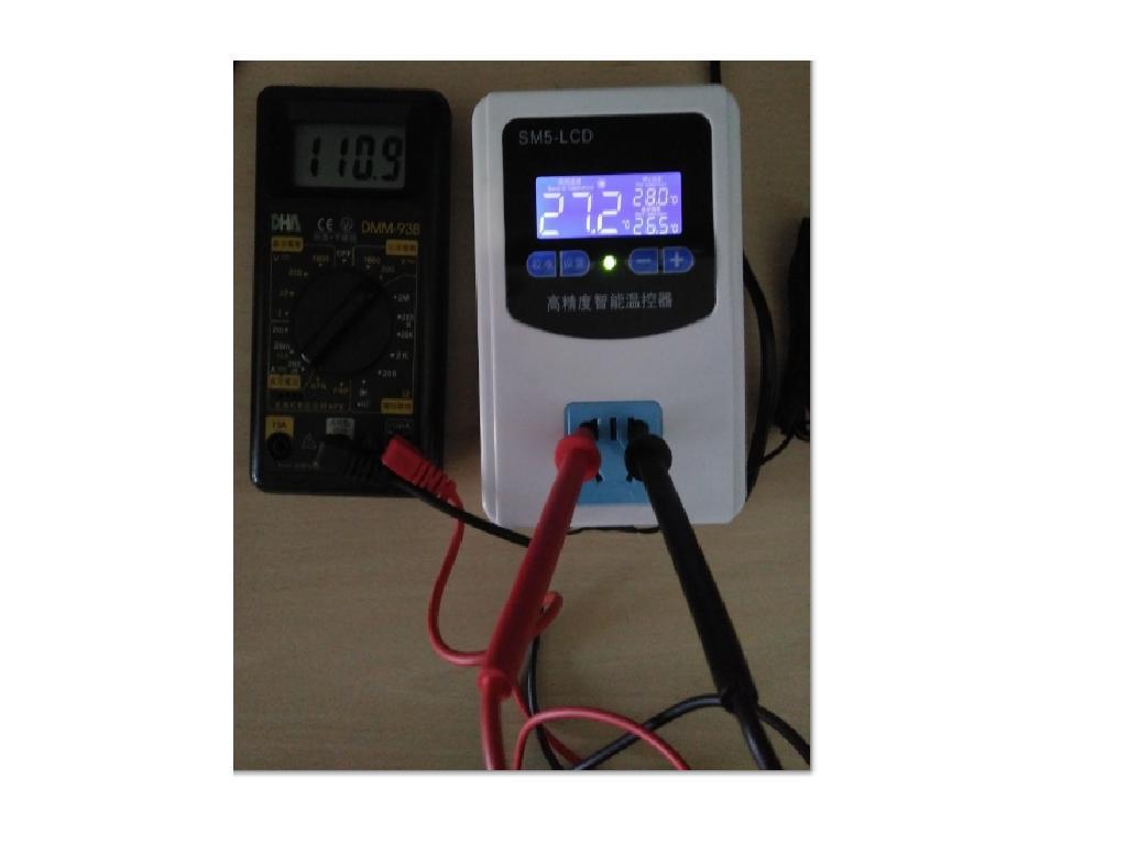 LCD AC110V温度控制器 +塑膠探頭