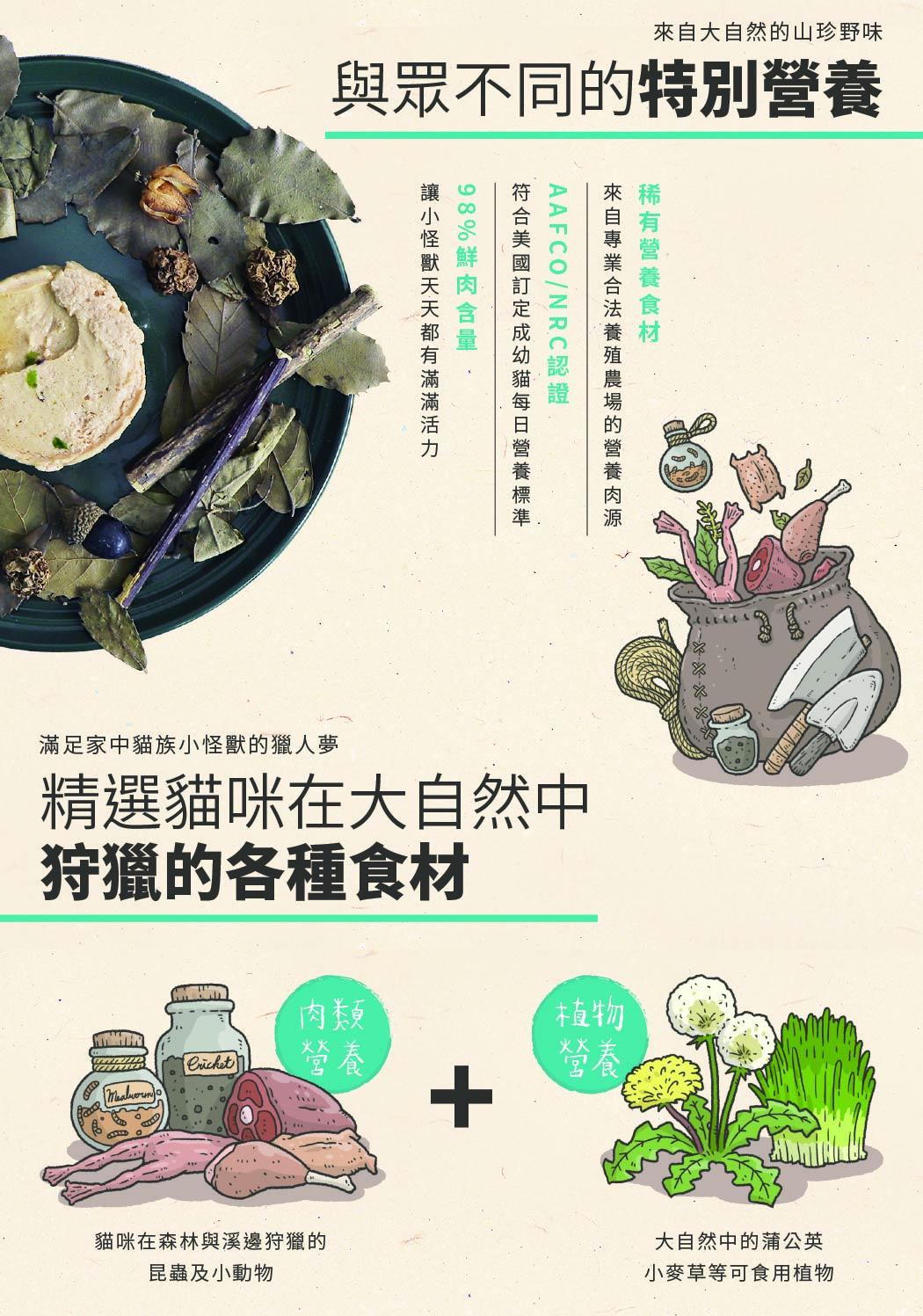 [喵皇帝] 怪獸部落 貓族 小怪獸野味無膠主食罐 165G 雞肉白鼠蟋蟀麵包蟲兔肉青蛙貓罐頭