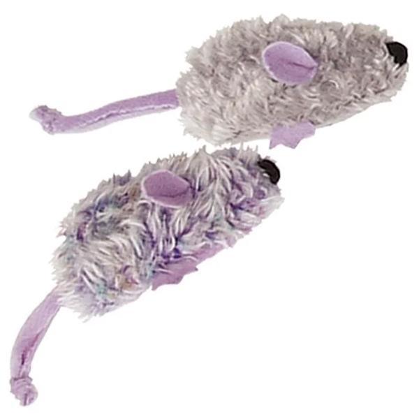 美國KONG Frosty Mice / 紫老鼠玩具 貓草玩具 一組兩隻 附貓薄荷 可重複填充NM402