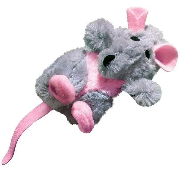 美國KONG Refillable Catnip Toys Rat / 灰老鼠貓草玩具(NR45) 附貓薄荷