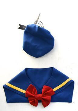 Zazazoo台灣製寵物水手領巾 - 貓咪、小型犬皆宜-三種穿搭、附蝴蝶結+水手結 美少女戰士