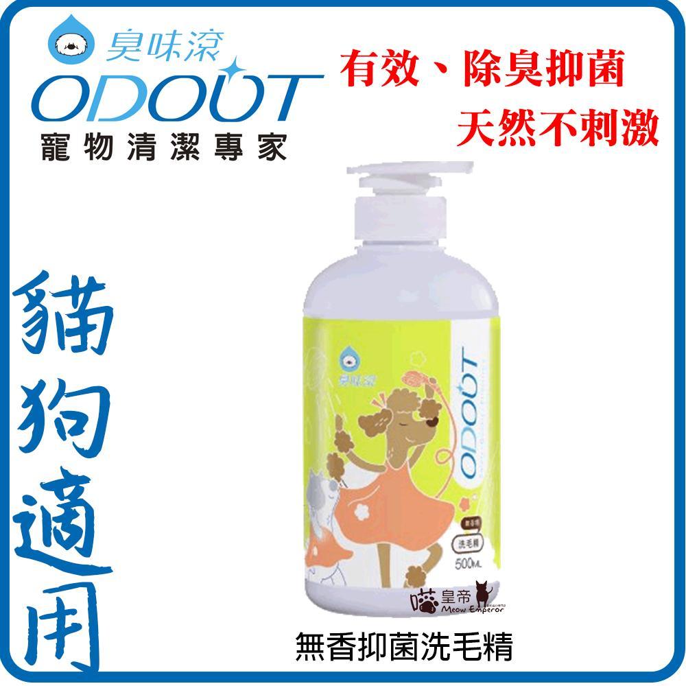 Odout 臭味滾寵物清潔專家-貓狗適用 寵物無香抑菌洗毛精 500ml按壓瓶