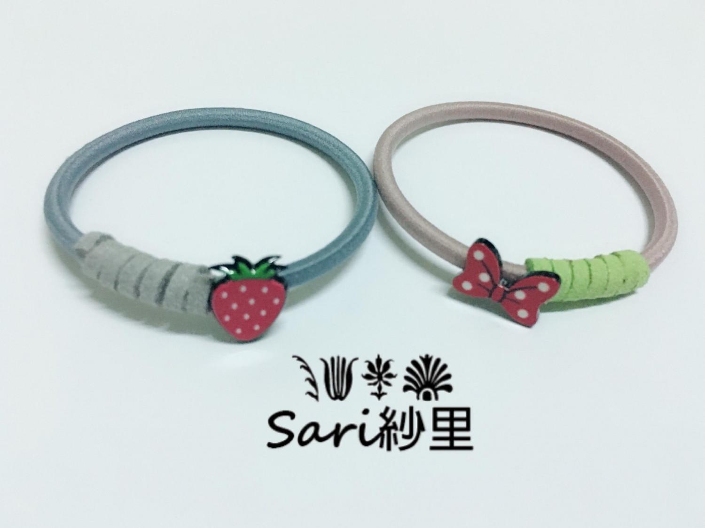 草莓髮束//蝴蝶結髮束
