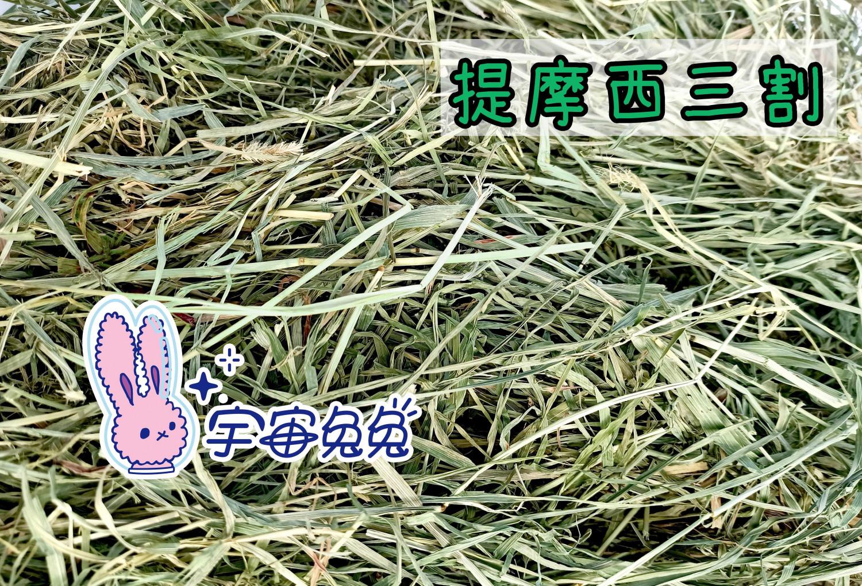 宇宙兔兔 提摩西三割/三切/T3 不過篩 1KG 牧草 兔子 天竺鼠 龍貓 草