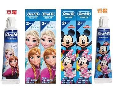 歐樂B 迪士尼兒童牙膏 冰雪公主 米奇米妮2入
