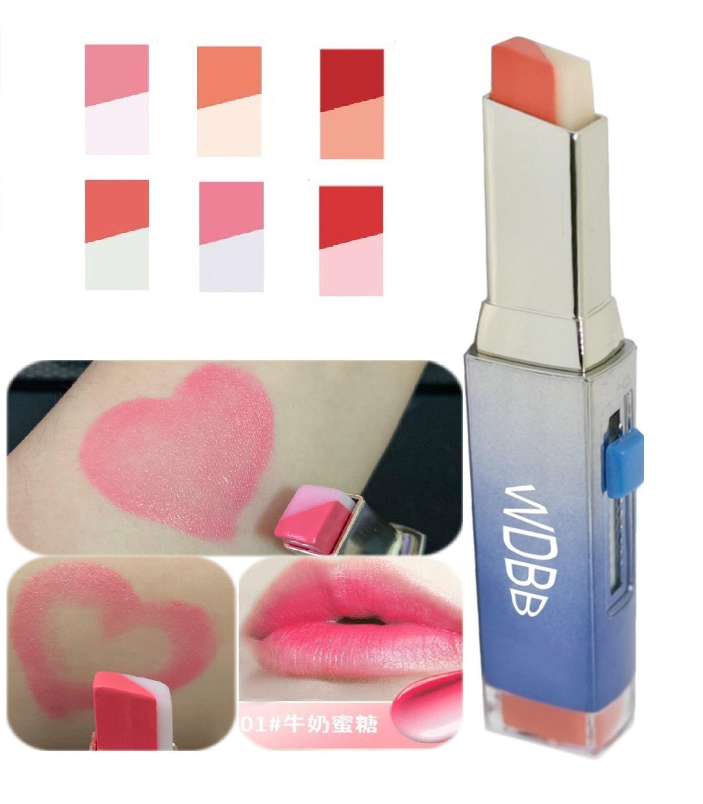 買一送一 WDBB咬唇妝 超顯色超感性 漸層唇膏雙色口紅2g
